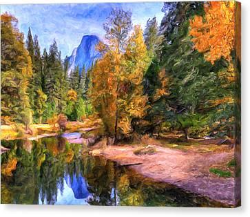 Autumn At Yosemite Canvas Print by Dominic Piperata