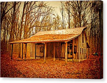 Canvas Print featuring the photograph Autumn Barn by Mary Timman