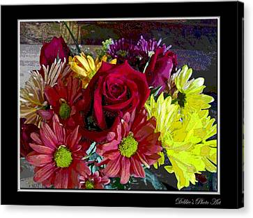 Canvas Print featuring the digital art Autumn Boquet by Debbie Portwood