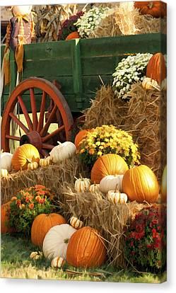 Autumn Bounty Vertical Canvas Print by Kathy Clark