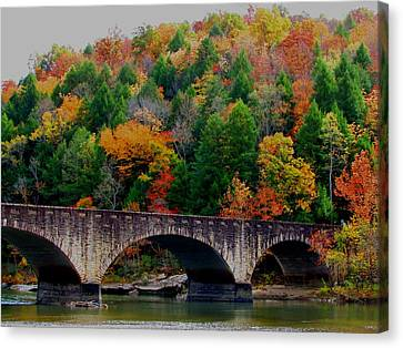 Autumn Bridge 2 Canvas Print