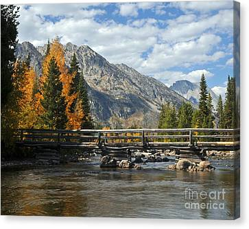 Autumn Bridges Grand Teton National Park Canvas Print