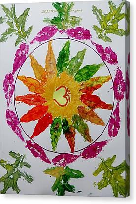 Inner Self Canvas Print - Autumn Chakra by Sonali Gangane