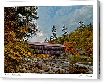 Canvas Print featuring the photograph Autumn Crossing by Richard Bean