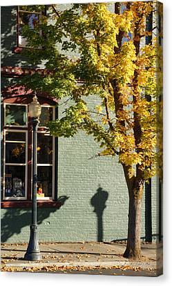 Autumn Detail In Old Town Grants Pass Canvas Print by Mick Anderson