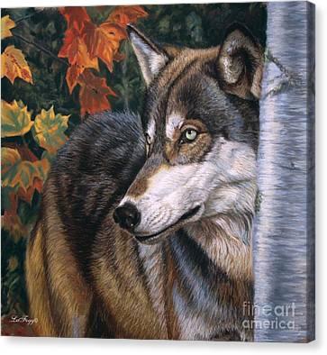 Autumn Eyes Canvas Print by Deb LaFogg-Docherty