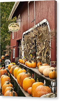 Autumn Farm Stand  Canvas Print by John Greim