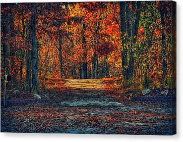 Autumn Has Arrived Canvas Print by Bill Tiepelman