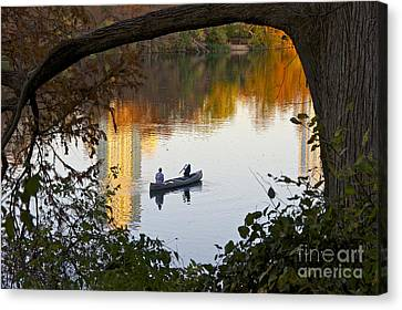 Autumn Idyll On Lake Austin Canvas Print by Sean Griffin