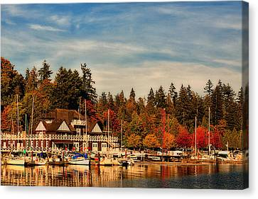 Autumn In Canada - Stanley Park Canvas Print by Long Nguyen