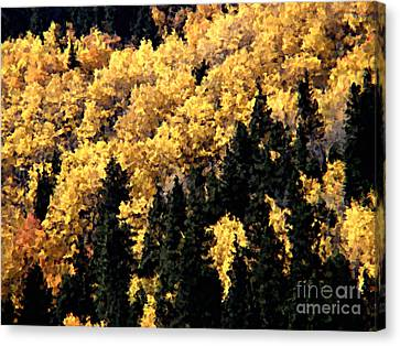 Autumn In Colorado Painting Canvas Print by Donna Greene