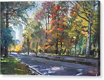 Autumn In Niagara Falls Park Canvas Print