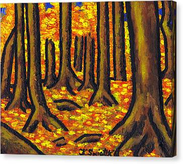 Autumn In Oakville Canvas Print by Kamil Swiatek