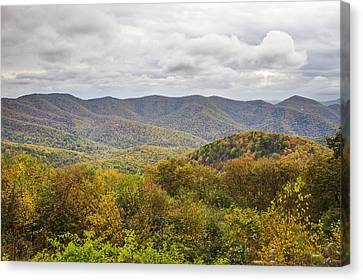 Autumn In Shenandoah National Park Canvas Print by Pierre Leclerc Photography