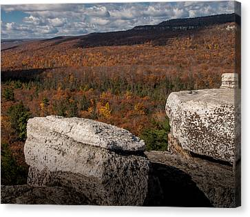Autumn In The Gunks Canvas Print by Jim DeLillo