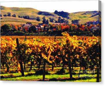 Autumn In The Valley 2 - Digital Painting Canvas Print by Carol Groenen