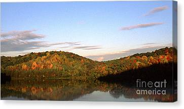 Autumn Lake Panoramic Canvas Print by Thomas R Fletcher