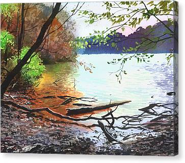 Autumn Lake Canvas Print by Sergey Zhiboedov