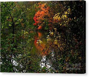 Autumn Lakeview Canvas Print by Jeff Breiman