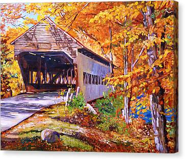 Autumn Love Story Canvas Print by David Lloyd Glover