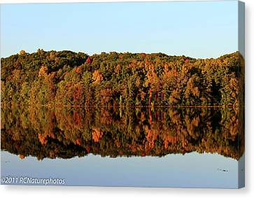 Canvas Print featuring the photograph Autumn Mirror by Rachel Cohen