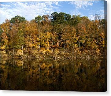 Autumn Mirror Canvas Print by Rob Amend