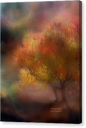 Autumn Scene Canvas Print - Autumn Mist by Carol Cavalaris