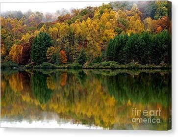 Autumn On Big Ditch Lake Canvas Print by Thomas R Fletcher