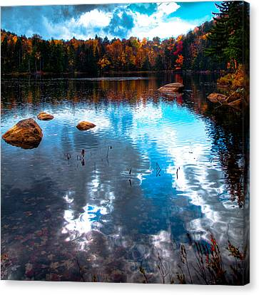 Autumn On Cary Lake Canvas Print by David Patterson