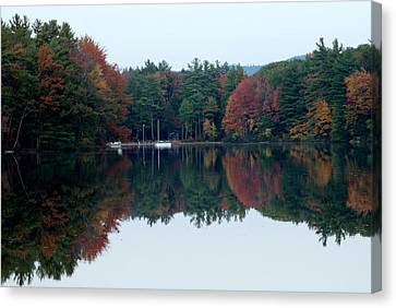 Autumn On The Lake Canvas Print by Lois Lepisto