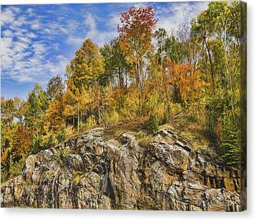 Autumn On The Rocks Canvas Print by Jo-Anne Gazo-McKim