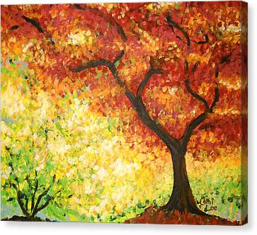 Autumn Rainbow Canvas Print