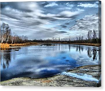 Canvas Print featuring the photograph Autumn Reflection by Blair Wainman