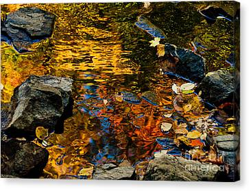 Canvas Print featuring the photograph Autumn Reflections by Cheryl Baxter