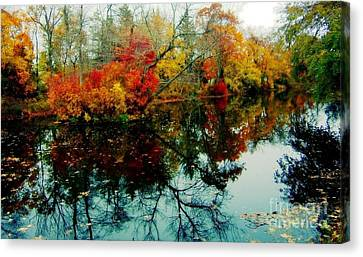Autumn Reflections Canvas Print by Holly Martinson