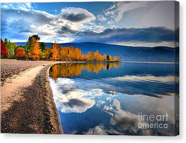 Autumn Reflections In October Canvas Print by Tara Turner