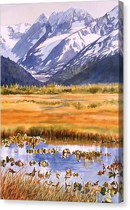 Autumn Reflections Canvas Print by Sharon Freeman