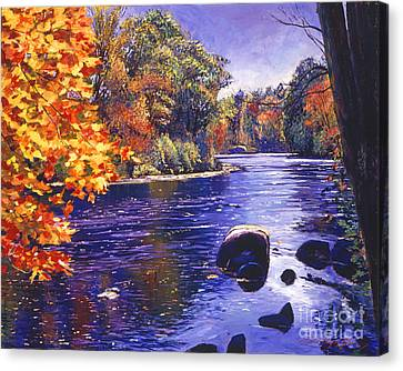 Autumn River Canvas Print by David Lloyd Glover