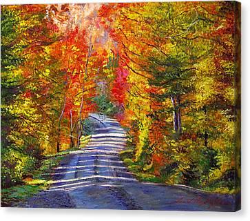 Autumn Roads Canvas Print by David Lloyd Glover