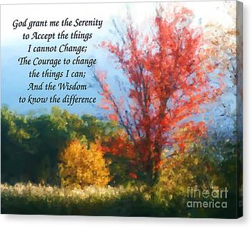 Autumn Serenity Prayer Canvas Print