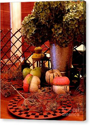 Autumn Still Life  2 Canvas Print by Tanya  Searcy