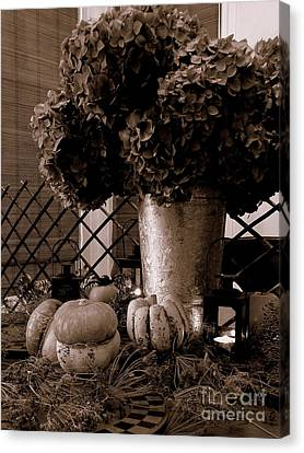Autumn Still Life  3 Canvas Print by Tanya  Searcy
