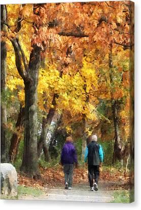 Autumn Stroll Canvas Print by Susan Savad