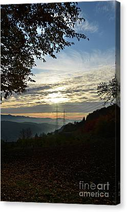 Autumn Sunset 3 Canvas Print by Bruno Santoro
