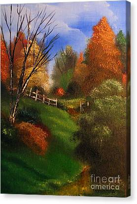 Autumn Trail  Canvas Print by Crispin  Delgado