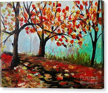 Autumn Trail Canvas Print by Trilby Cole
