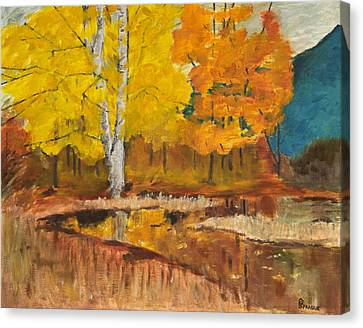 Autumn Tranquility Canvas Print by Cynthia Morgan