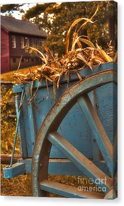 Autumn Wagon Canvas Print by Joann Vitali