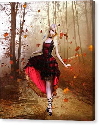 Goth Canvas Print - Autumn Waltz by Mary Hood
