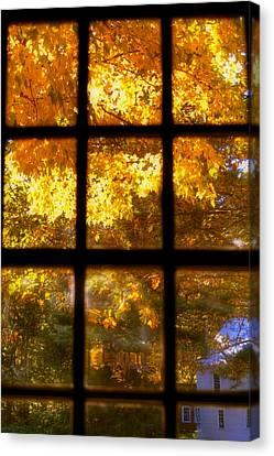 Autumn Window 2 Canvas Print by Joann Vitali